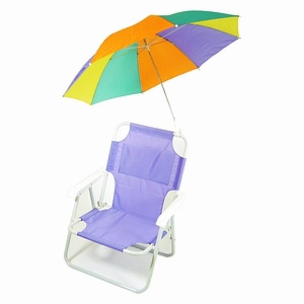 Slide: Redmon Medium Sized Beach Chair With Umbrella