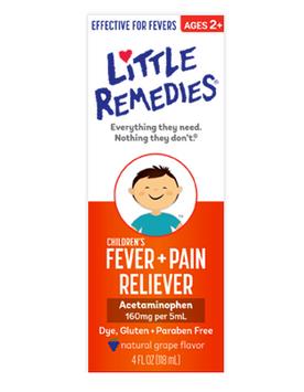 Little Remedies® Children's Fever & Pain Reliever, Natural Grape Flavor