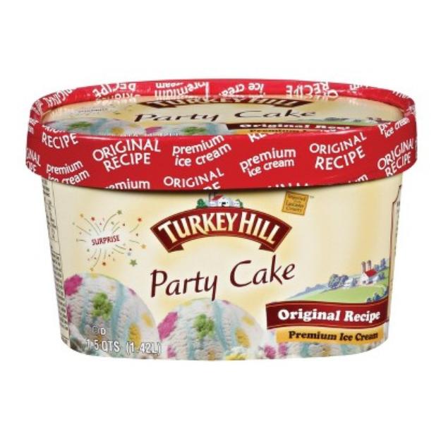 Turkey Hill Party Cake Ice Cream 1.5-qt.