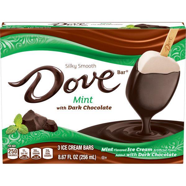 DOVE Mint with Dark Chocolate Bars 3-ct Box