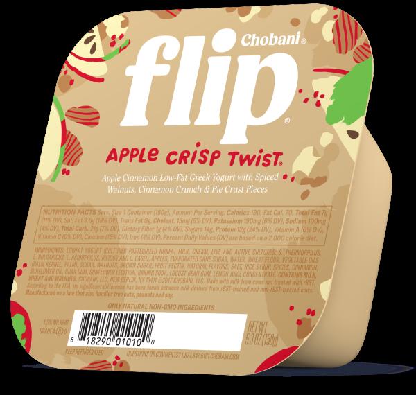 "Chobani® ""Flip""® Apple Crisp Twist™ Greek Yogurt"
