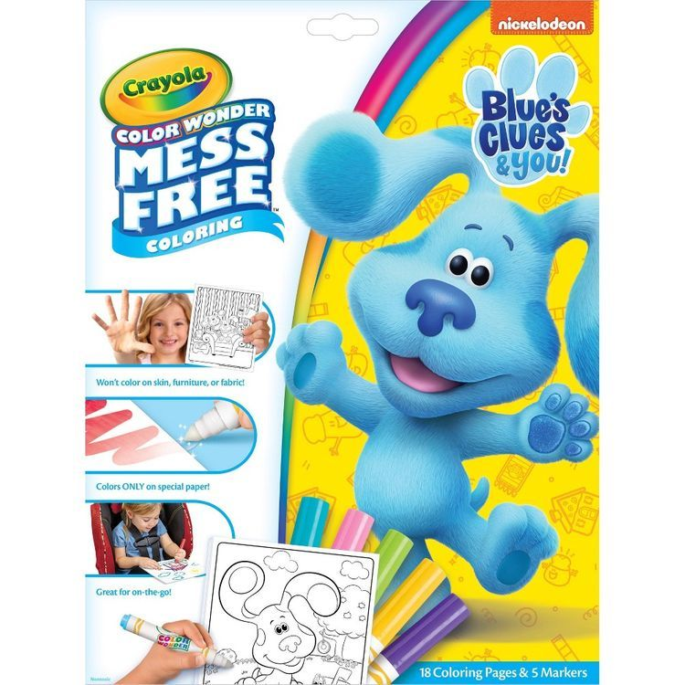 Crayola Color Wonder Mess Free Blue's Clues Coloring Set