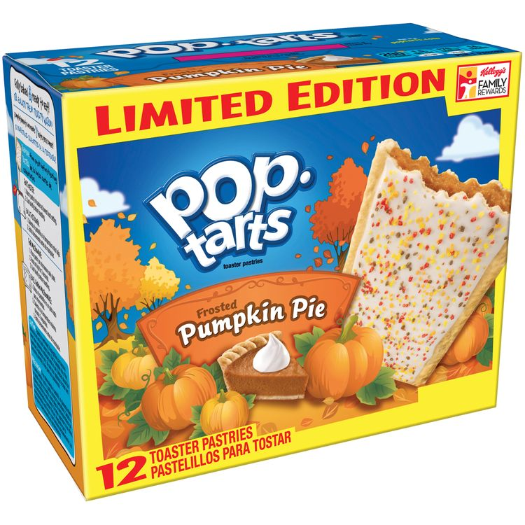 Kellogg's Pop-Tarts Frosted Pumpkin Pie Toaster Pastries