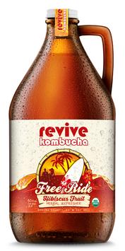 revive kombucha Free Ride Hibiscus Brew