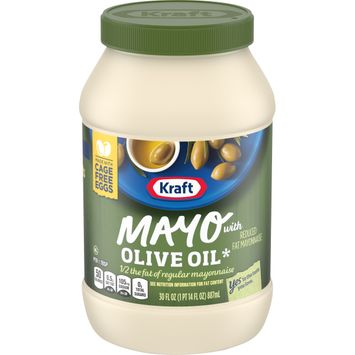 Kraft Mayo Reduced Fat Mayonnaise with Olive Oil, 30 fl. oz. Jar