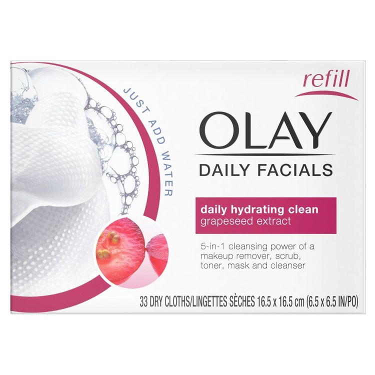 Olay Daily Facial Hydrating Cleansing Cloths w/ Grapeseed Extract