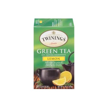 TWININGS® OF London Green Tea with Lemon Tea Bags