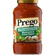 Prego® Chunky Garden Mushroom and Green Pepper Sauce