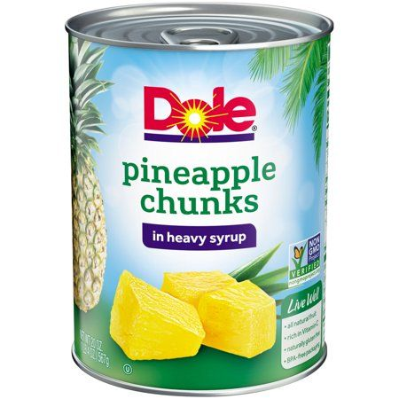Dole Canned Pineapple Chunks in Heavy Syrup