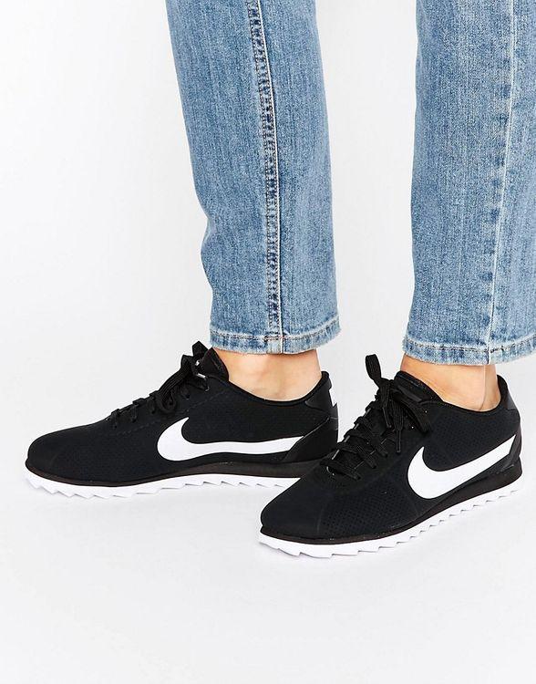 Women's Nike 'Cortez Ultra Moire' Sneaker, Size 7.5 M - Black