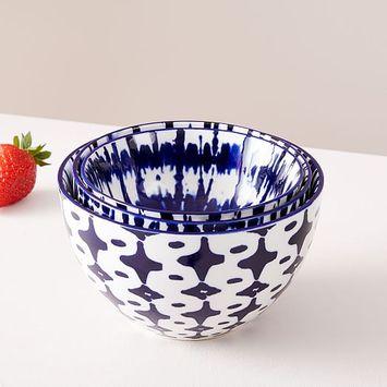 West Elm Indigo Tie-dye Nesting Bowls (set Of 3) Fabfitfun Summer