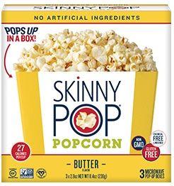 SkinnyPop®  Butter Microwave Popcorn