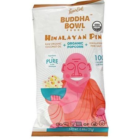 LesserEvil Buddha Bowl Organic Popcorn Himalayan Pink 0.88 oz - Vegan