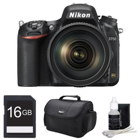 Nikon D750 DSLR 24.3MP Digital Camera w/ AF-S NIKKOR 24-120mm Lens 16GB Bundle