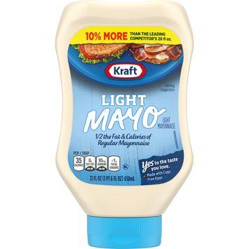 Kraft Light Mayo, 22 fl oz Squeeze Bottle