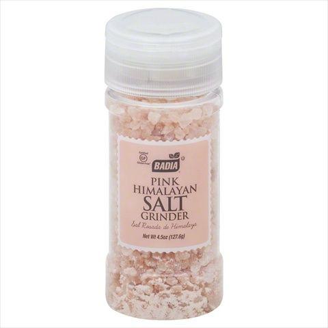 Badia 4.5 oz. Pink Himalayan Salt Grinder Case Of 12