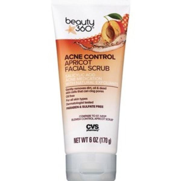 beauty 360® Acne Control Apricot Facial Scrub
