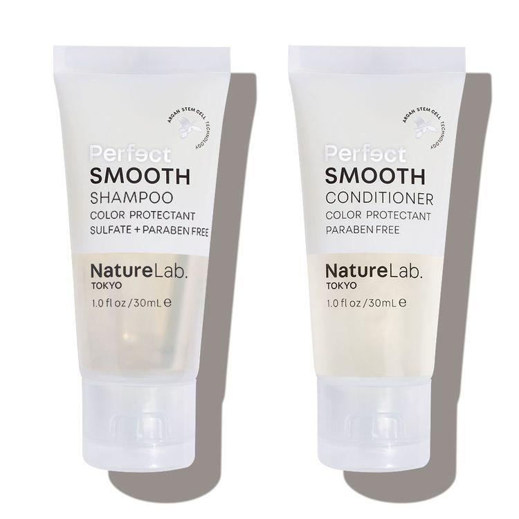 Naturelab Tokyo Perfect Smooth Shampoo & Conditioner Set 1oz Each, Travel Size
