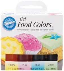 Wilton 448965 Gel Food Coloring Set 4-Pkg-Easter