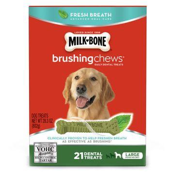 Milk Bone Milk-Bone Brushing Chews Dental Dog Treat - Large