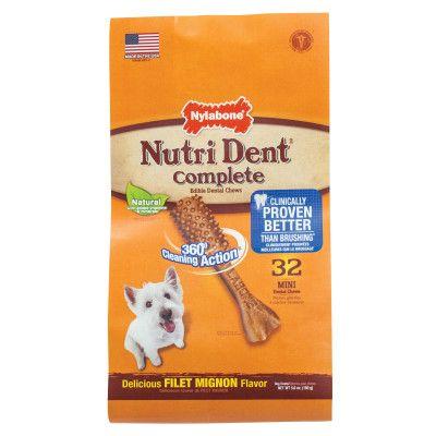 Nylabone Nutri Dent Complete Mini Dog Dental Chew - Filet Mignon