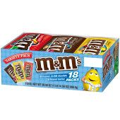 M&M'S Chocolate Candy Full Size Pouch Variety Box, 23.14 Oz 18 Pack