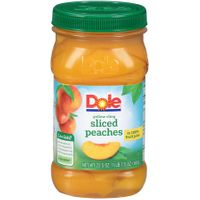 Dole Jarred Sliced Peaches