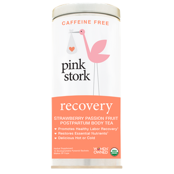pink stork Recovery Tea