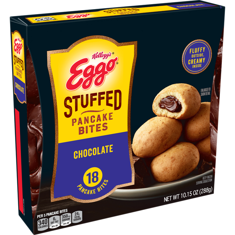 Eggo Frozen Pancake Bites, Stuffed Chocolate, Frozen Breakfast Food, 10.15oz