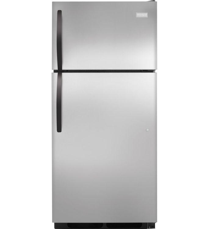Frigidaire Refrigerator. 16 cu. ft. Top Freezer Refrigerator in Stainless Steel, Energy Star FFHT1621QS