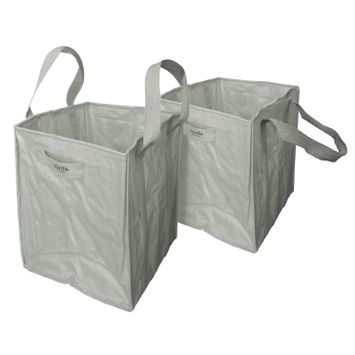 Martha Stewart MTS-MLB2-MPL 2-Pk. 20-In x 20-In x 24-In Garden Reusable Leaf Bag, Slate