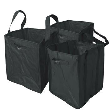 Martha Stewart MTS-MLB3-MBK 3-Pk. 20-In x 20-In x 24-In All-Purpose Garden Bag (Black)