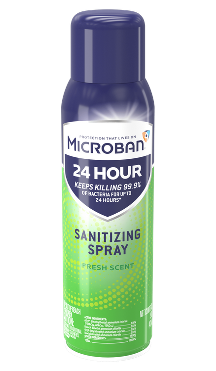 Microban Sanitizing Spray Fresh