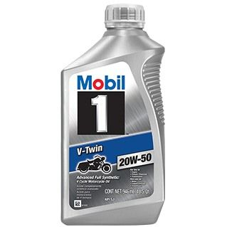 Mobil 1™ V-Twin 20W-50 motorcycle oil