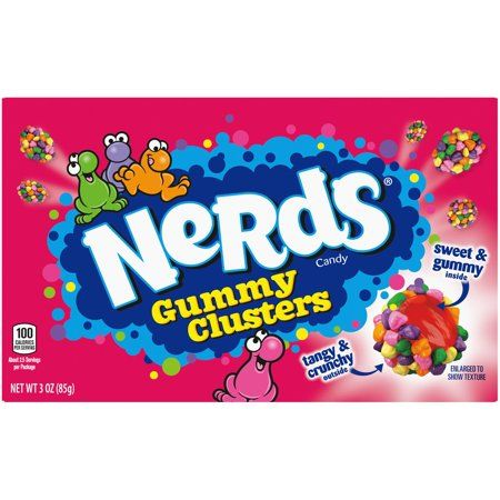Nerds Clusters Candy Sweet & Gummy inside Tangy & Crunchy Outside 3 Oz