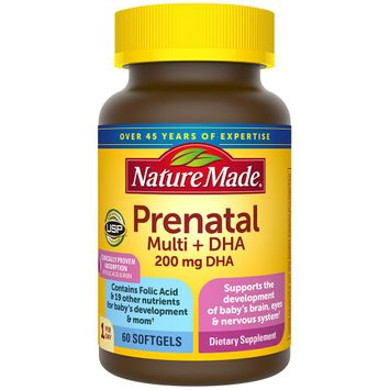 Nature Made Prenatal Multivitamin + 200 mg DHA Softgels