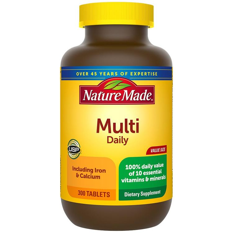 Nature Made Multivitamin Daily with Iron Tablets