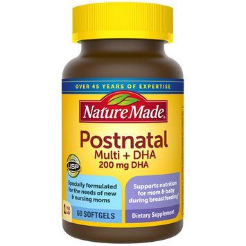 Nature Made Postnatal Multivitamin + 200 mg DHA Softgels