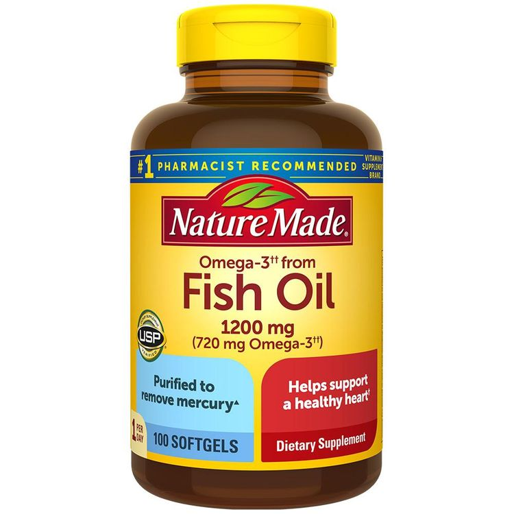 Nature Made Fish Oil Derived Omega-3 1200 mg Softgels