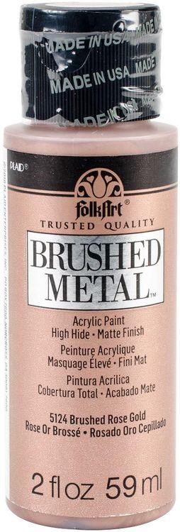 Plaid Craft FABM2-5124 2 oz FolkArt Brushed Metallics - Rose