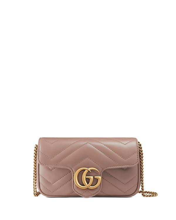 Versace GG Marmont Matelassé Leather Super Mini Bag
