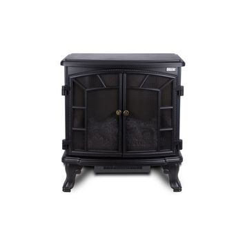 1400W Vintage Black Electric Stove Heater Fireplace 25-Inch