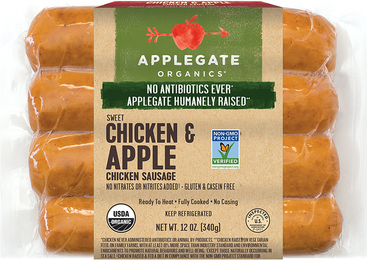 Applegate Organics Chicken & Apple Sausage