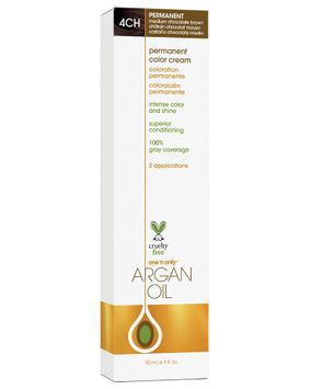One 'n Only Argan Oil Hair Color Permanent #4CH Medium Chocolate Brown