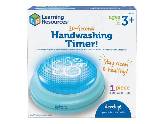 LEARNING RESOURCES 20-SECOND HANDWASHING TIMER