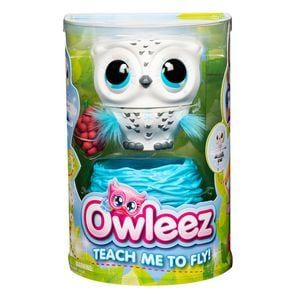 Owleez: Flying Baby Owl Interactive Toy with Lights and Sounds - White
