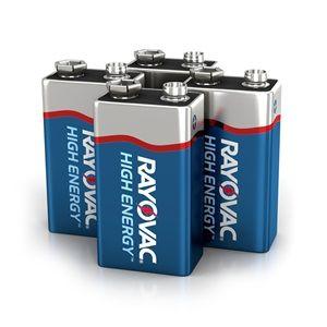Rayovac 9V 4-Pack HIGH ENERGY™ Alkaline Batteries