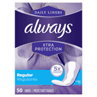 Always Xtra Protection Daily Liners, Regular