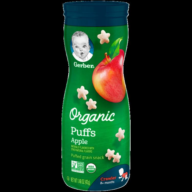 Slide: Gerber Organic Puffs