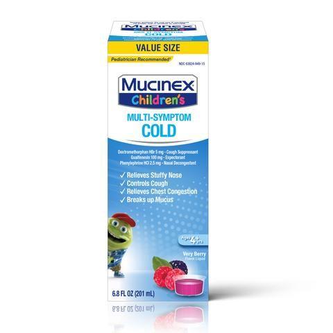 Mucinex® Children's Multi-Symptom Cold Very Berry Liquid